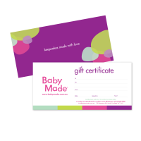 Baby made Gift Certificate