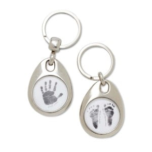 Baby Made Key Rings - White