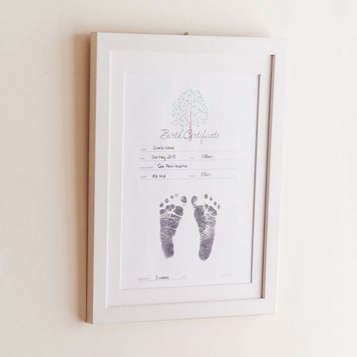 Inkless Print Birth Certificate With Babys Birth Details And