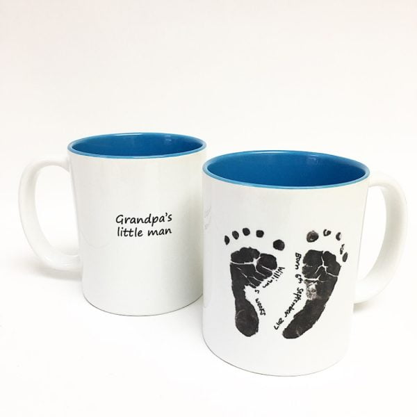 Ceramic Mugs With Baby S Hand Prints Amp Foot Prints