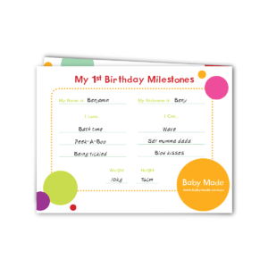 my first birthday keepsake card